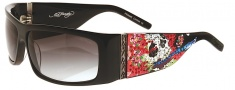 Ed Hardy EHS 004 Beautiful Ghost Sunglasses - Black