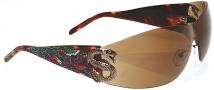 Ed Hardy EHS 005 Snake 2 Sunglasses - Tortoise