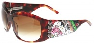 Ed Hardy EHS 006 Love Dog Sunglasses - Tortoise