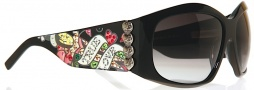 Ed Hardy EHS 006 Love Dog Sunglasses - Black