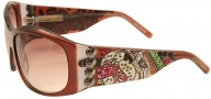 Ed Hardy EHS 006 Love Dog Sunglasses - Cocoa