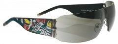Ed Hardy EHS 010 Wolf Sunglasses - Black