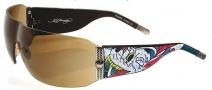 Ed Hardy EHS 010 Wolf Sunglasses - Tortoise