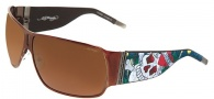 Ed Hardy EHS 012 Love Kills Slowly Sunglasses - Cocoa