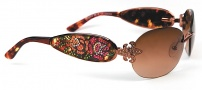 Ed Hardy EHS 014 Three Old School Roses Sunglasses - Cocoa