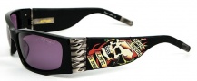 Ed Hardy EHS 015 Death is Certain Sunglasses - Black