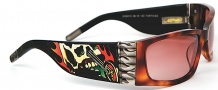 Ed Hardy EHS 015 Death is Certain Sunglasses - Tortoise