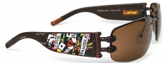 Ed Hardy EHS 016 Lover Boy Sunglasses - Latte