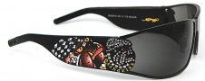 Ed Hardy EHS 018 La Dog Sunglasses - Black