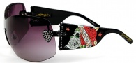 Ed Hardy EHS 023 Zeke Sunglasses - Black