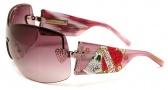 Ed Hardy EHS 023 Zeke Sunglasses - Pink Sapphire
