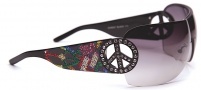 Ed Hardy EHS 027 Pin Up 2 Sunglasses Sunglasses - Black