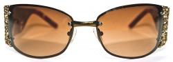 Ed Hardy EHS 028 Medusa Sunglasses - Cocoa