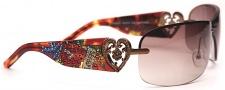 Ed Hardy EHS 031  Skunk - Blk & Purple Sunglasses - Tortoise