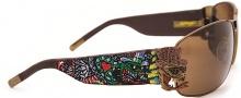 Ed Hardy EHS 034 Crunk Rock Sunglasses - Tortoise