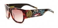 Ed Hardy EHS 040 Surf or Die Sunglasses - Tortoise