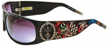 Ed Hardy EHS 044 Live to Ride Sunglasses - Black