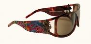 Ed Hardy EHS 046 Snake & Roses Sunglasses - Tortoise