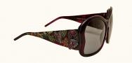 Ed Hardy EHS 049 Butterflies Sunglasses - Amethyst