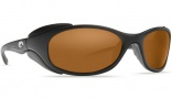 Costa Del Mar Frigate Sunglasses Matte Black Sunglasses - Dark Amber / 400G