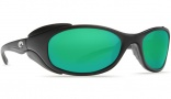 Costa Del Mar Frigate Sunglasses Matte Black Sunglasses - Green Mirror / 580G