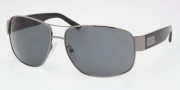 Prada PR 61LS Sunglasses Sunglasses - 5AV5Z1 Gunmetal / Polarized Gray