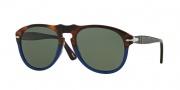 Persol PO 0649 Sunglasses Sunglasses - 102258 Havana / Blue / Polarized Grey