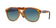 Persol PO 0649 Sunglasses Sunglasses - 1025S3 Light Havana / Gradient Blue Polarized