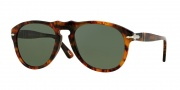 Persol PO 0649 Sunglasses Sunglasses - 108/58 Caffe Havana / Crystal Green Polarized