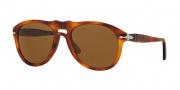 Persol PO 0649 Sunglasses Sunglasses - 96/33 Light Havana / Crystal Brown