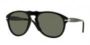 Persol PO 0649 Sunglasses Sunglasses - 95/58 Black / Crystal Green Polarized