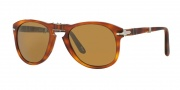 Persol PO0714 Sunglasses Folding Sunglasses - 96/33 Light Havana / Crystal Brown
