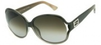 Fendi FS 5070 Sunglasses Sunglasses - 902 Transparent Dark Grey / Brown Grey Gradient