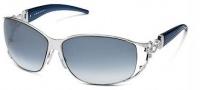 Roberto Cavalli RC376S Temi Sunglasses - OC91 Dark Blue Silver / Blue