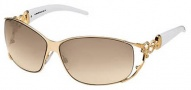Roberto Cavalli RC376S Temi Sunglasses - OD26 White Gold / Brown Gradient