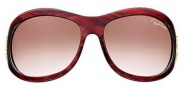 Roberto Cavalli Teutra Sunglasses - OU13 Striped Bordeaux Gold / Light Brown Gradient