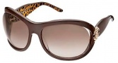 Roberto Cavalli Teutra Sunglasses - OU17 Dark Brown Gold / Brown Gradient