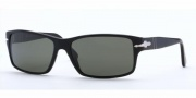 Persol PO 2761S Sunglasses Sunglasses - (95/58) Black / Crystal Green Polarized