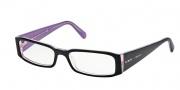 Prada PR 10FV Eyeglasses Eyeglasses - (3AX1O1) Black-Pink