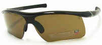 Tag Heuer 27 Air Sunwear 6213 Sunglasses - 200 Shiny Black / Brown Precision Polarized Lenses