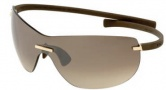 Tag Heuer Rimless Curve 5109 Sunglasses (Zenith) Sunglasses - 109 White / Gray Lenses