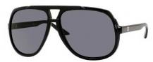 Gucci 1622/S Sunglasses Sunglasses - 0D28 Shiny Black (R6 gray lens)