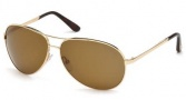 Tom Ford 0035 Charles Sunglasses - 28H Shiny Rose Gold / Brown Polarized