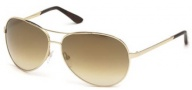 Tom Ford 0035 Charles Sunglasses - 28G Shiny Rose Gold / Brown Mirror