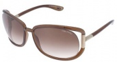 Tom Ford 0077 - Genevieve Sunglasses - 692 Transparent Dark Brown / Brown Gradient