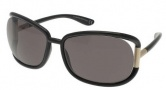 Tom Ford 0077 - Genevieve Sunglasses - B5 Shiny Black / Dark Grey
