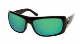 Costa Del Mar Bonita Sunglasses Black Frame Sunglasses - Green Mirror Glass / Costa 580
