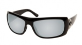 Costa Del Mar Bonita Sunglasses Black Frame Sunglasses - Silver Mirror Glass / Costa 580