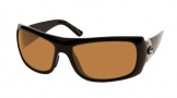 Costa Del Mar Bonita Sunglasses Black Frame Sunglasses - Amber Glass / Costa 400