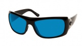 Costa Del Mar Bonita Sunglasses Black Frame Sunglasses - Blue Mirror Glass / Costa 400